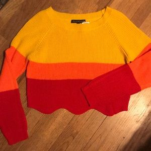🔥Adorable Scalloped Cropped Sweater